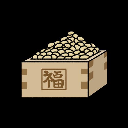 節分の豆まき用の大豆のイラスト