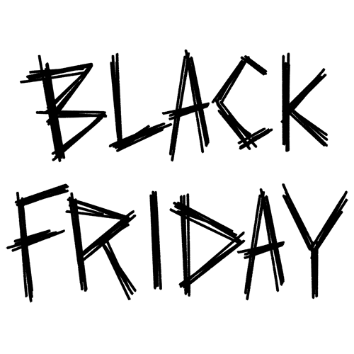 かっこいいデザインのブラックフライデーの文字