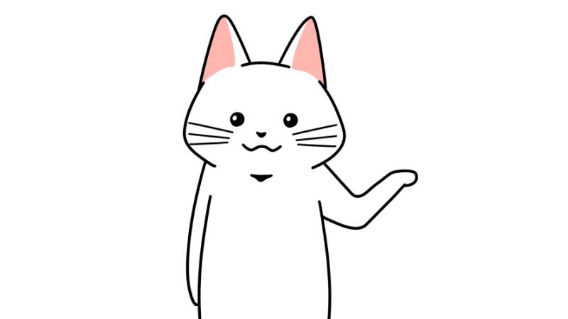 案内・提案する猫のイラスト
