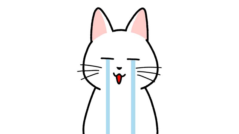 号泣する・泣く顔のイラスト(顔だけ)