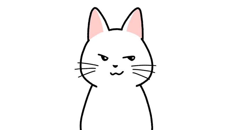 ニヤリとニヒルに笑う顔のイラスト(顔だけ)