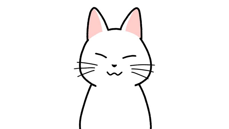 ニッコリ笑う顔のイラスト(顔だけ)