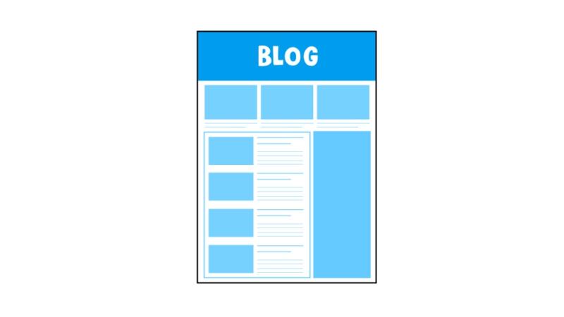 シンプルデザインのブログ画面のイラストのアイキャッチ