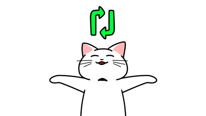 SNSで拡散する猫のイラスト