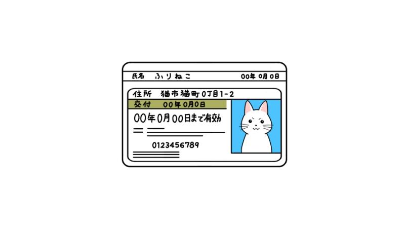 ゴールド免許の免許証のイラスト