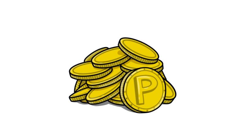 ポイントコインのイラスト