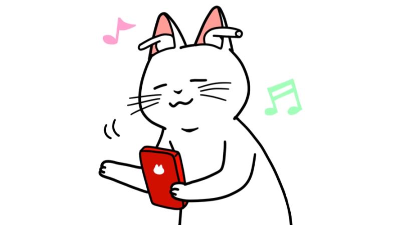 ブルートゥースイヤホンで音楽を聴くイラスト(顔だけ)