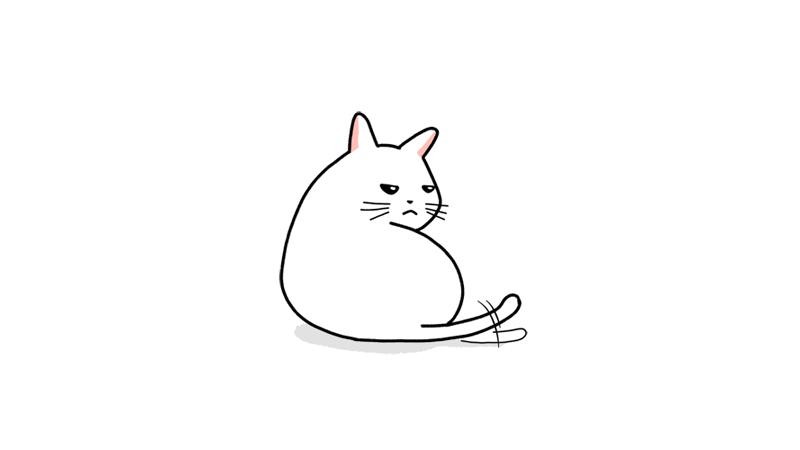 拗ねる猫のイラストアイキャッチ