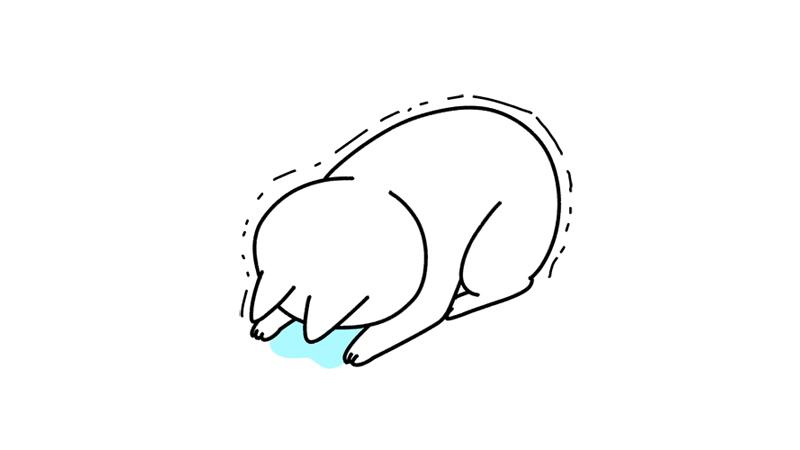 泣きながら土下座するイラスト