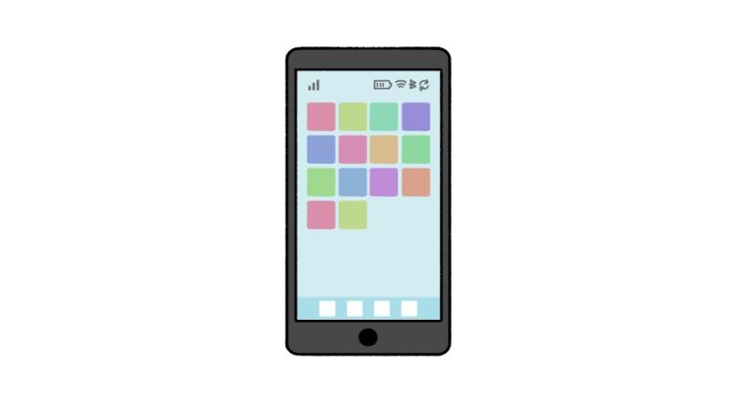 スマホ・スマートフォンのイラスト/ホーム画面のアイキャッチ