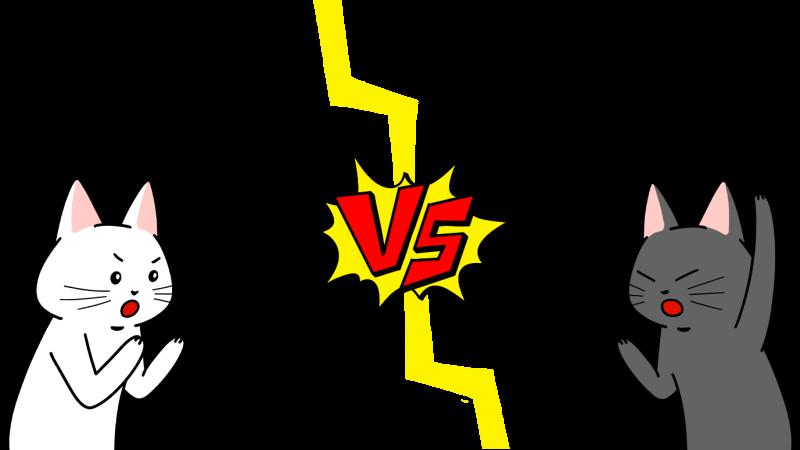 対戦・対決画面(VSマーク付き)のイラスト