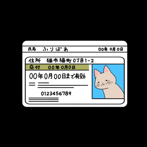 シニアドライバーの免許証