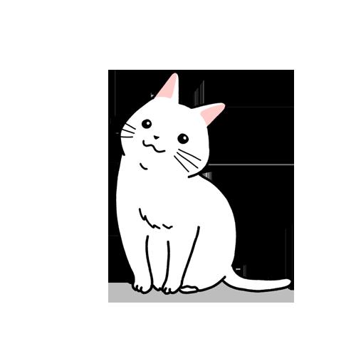 首を傾げる猫のイラスト