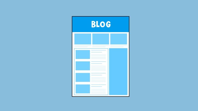 シンプルデザインのブログ画面のイラスト(ブログ見出しサイズ)