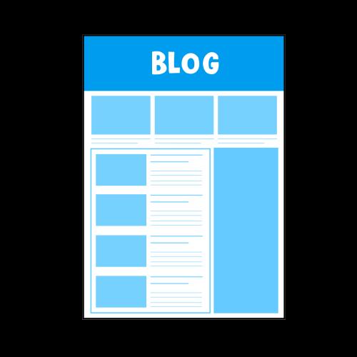 シンプルデザインのブログ画面のイラスト
