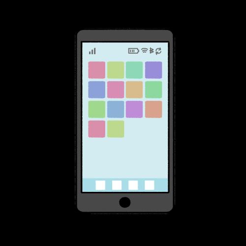スマホ・スマートフォンのイラスト/ホーム画面