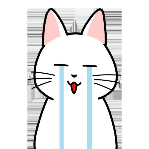 号泣する顔のイラスト(顔だけ)