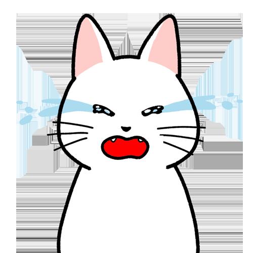 泣き叫ぶ顔のイラスト(顔だけ)